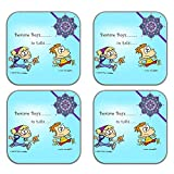 MeSleep Rakhi Wooden Coaster-Set Of 4 - B013LEJ0DY