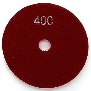 Diamond Wet Polishing Pads Sanding Grinding Discs Tools 10 Pcs Set for Granite Marble Stone 5 Grit 400 (Color: 10 Pcs: Grit 400#, Tamaño: 5 Inch)