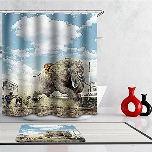 Modern Design Eco-Friendly Animal Games Shower Curtain, Width X Height / 72 X 80 Inches / W * H 180 By 200 Cm, Polyerster, Best For Family