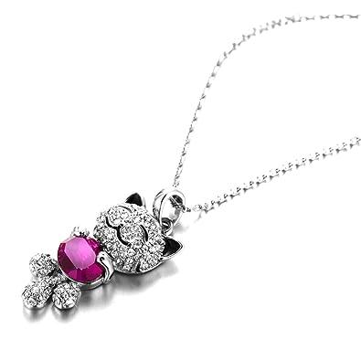 Pauline morgen collier chat porte bonheur pour femme en en plaqu or bijoux m504 - Bijoux porte bonheur pour femme ...