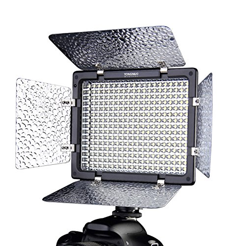 Yongnuo Yn-300 Ll Pro Led Video Light Lamp 4 Color Sheets Camera Camcorder For Canon Nikon + Control 3200-5500K Adjustable Color Temperature