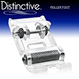 Distinctive Roller Sewing Machine Presser Foot - Fits All Low Shank Snap-On Singer, Brother, Babylock, Euro-Pro, Janome, Kenmore, White, Juki, New Home, Simplicity, Elna and More!