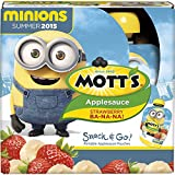 Mott's Snack & Go Applesauce, Strawberry Ba-Na-Na!, 3.2 Ounce Pouches (Pack of 4)