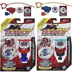 Beyblade Shogun Steel Samurai Ifrit W145 Cf Ss 01 Top & Ninja Salamander Sw145 Sd Ss 02 N Top Bundle