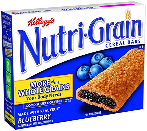 Kellogg'S Nutri-Grain Cereal Bars, Blueberry, 8-Count Bars (Case Of 12 Boxes)