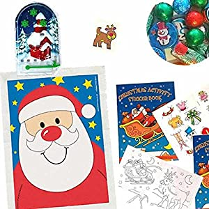 Christmas Theme Filled Party Bags (no. 3), four supplied