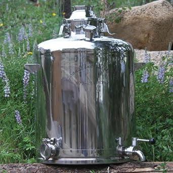 moonshine distiller 26 gallon milk can distilling boiler commercial food service equipment. Black Bedroom Furniture Sets. Home Design Ideas