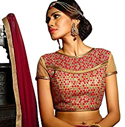 Melluha Round Net Stitched Customizable Blouse with Santoon Inner