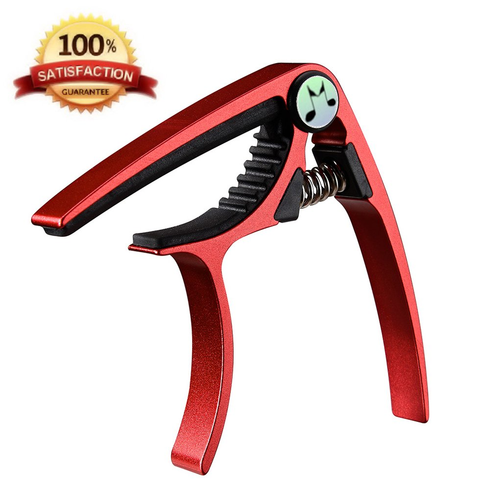 Acoustic Guitar Capo - Musicians Recommended Capo for Acoustic,Electric or Classical Guitar - Perfect for Banjo and Ukulele - Lightweight Aluminum Comparable to Jim Dunlop,Bill Russell,Kyser or Shubb