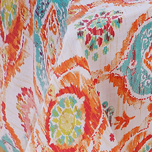 Fiesta tablecloth 52 by 52 inch ava home garden linens for Table runners 52 inches