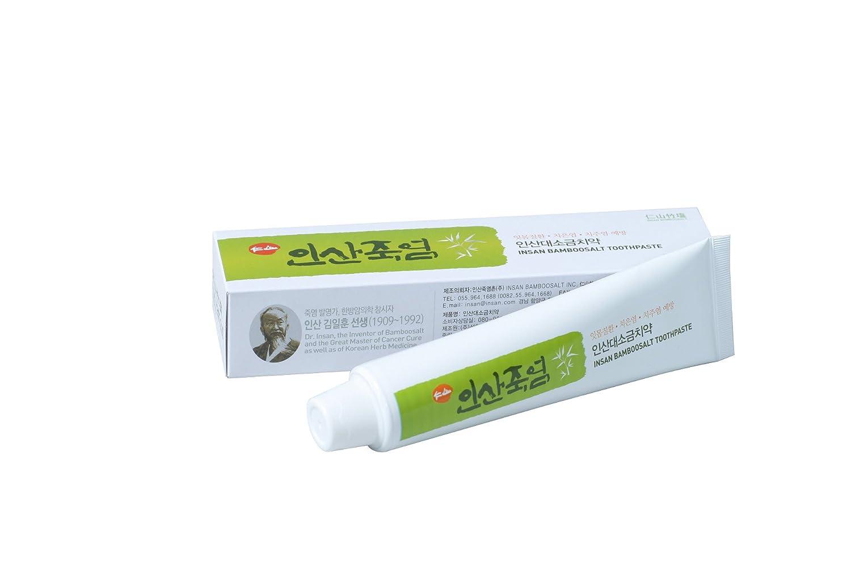 Insan Bamboo Salt Toothpaste (160g) скребок шпатель кулинарный salt
