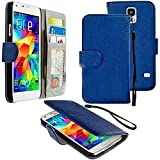 myLife Duke Blue – Classic Design – Koskin Faux Leather (Card, Cash and ID Holder + Magnetic Detachable Closing + Hand Strap) Slim Wallet for NEW Galaxy S5 (5G) Smartphone by Samsung (External Rugged Synthetic Leather With Magnetic Clip + Internal Secure Snap In Hard Rubberized Bumper Holder) Reviews