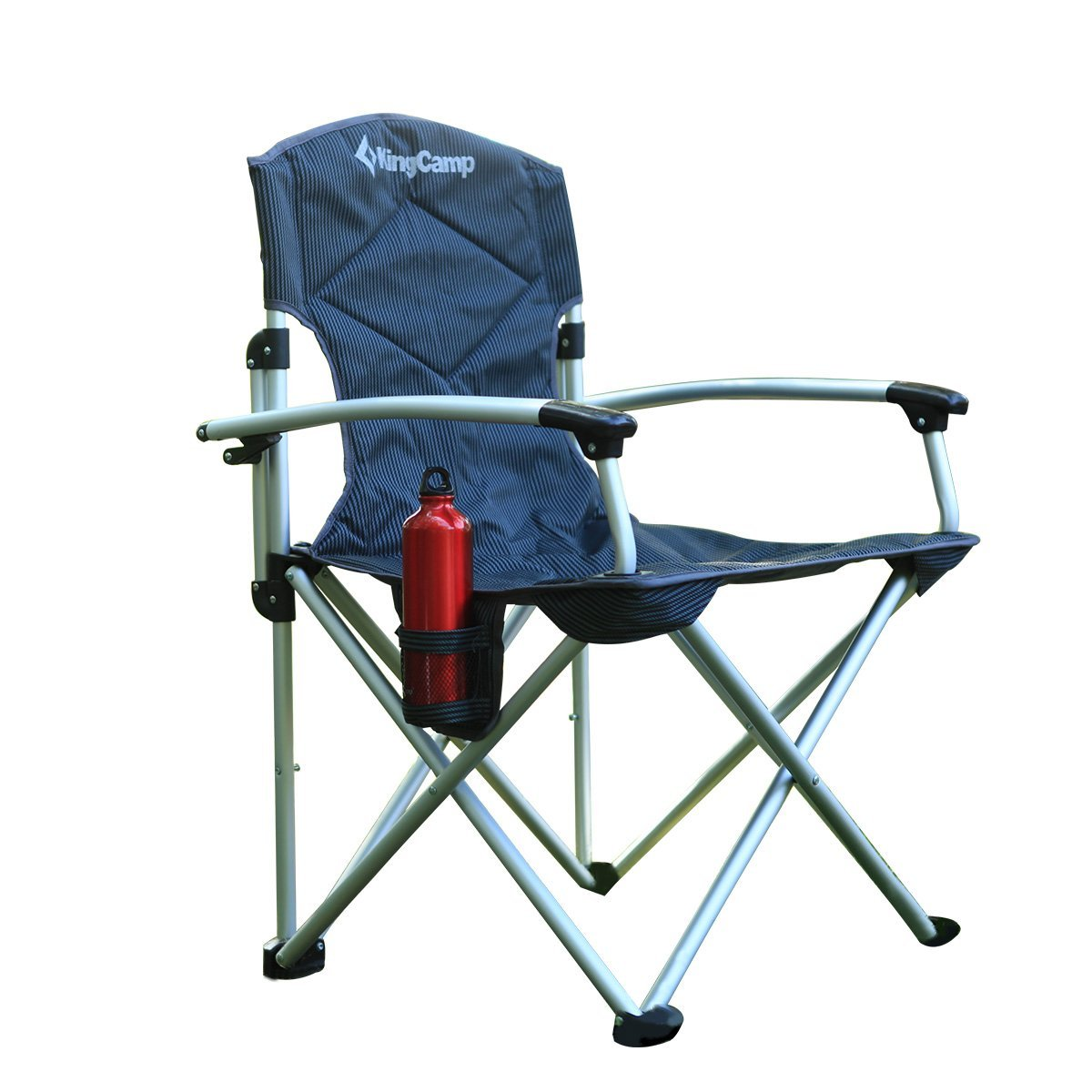 Kingcamp Aluminum Arms Folding Outdoor Camping Travel Chair With Carry Bag