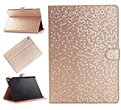 Nine States Synthetic Leather Honeycomb Durable Protective Cover for Apple iPad Air 2 with Kickstand (Gold)