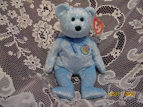 TY Beanie Baby - DECADE the Bear (Light Blue Version) - 1
