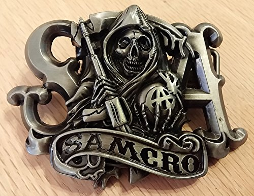 Sons of Anarchy SAMCRO Reaper with Banner Die Cast Metal Belt Buckle