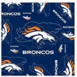 NFL Denver Broncos Logo & Symbol Blue Silk Scarf Polyester New With Tags at Amazon.com