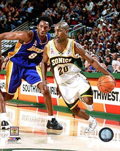 Gary Payton & Kobe Bryant NBA Action Photo (8