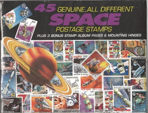 45 Genuine Postage Stamps Assortment - Space - 1