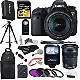 Canon EOS 6D Digital Camera Body with EF 24-105mm f/3.5-5.6 STM Lens + Lexar 64GB 600X SDXC Memory Card + Deluxe SLR Sling Bag + 57-Inch Photo/Video Tripod + Replacement LP-E6 Battery Pack + Slave Flash + Polaroid Optics 77mm 3 Piece Filter Kit + Polaroid RC6 Wireless Remote + Extra Accessories SLR Camera Bundle