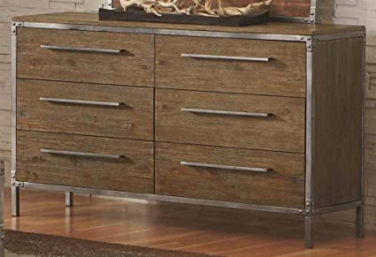 6-Drawer Dresser with Metal Accents