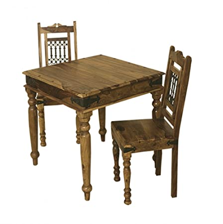 Sheesham Dining Table – 90x90cm Jali Dining Table and Chairs