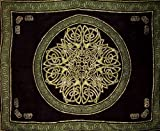 Celtic Circle Tapestry-Bedspread-Wallhanging-Green