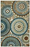 Mohawk Home Forest Suzani Area Rug 60 by 96-Inch Multicolored