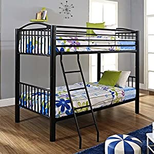 Powell Heavy Metal Twin Over Twin Bunk Bed