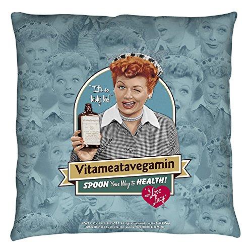 I Love Lucy Vitameatavegamin Throw Pillow White 16X16