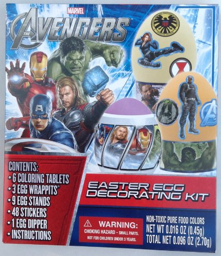 Marvel Avengers Easter Egg Decorating Kit