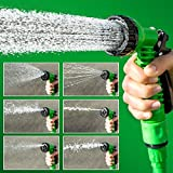 VelVeeta 50ft Longest And Strongest Flexible Expandable Magic Garden Hose And 7-pattern Spray Nozzle And Universal...