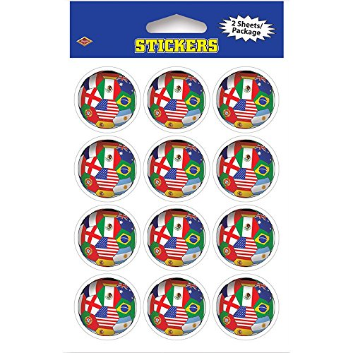 "Soccer Stickers - International 4"" x 6"" Party Accessory - 1"