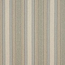 D520 Blue Beige And Green Striped Washed Linen Look Woven Upholstery Fabric By The Yard