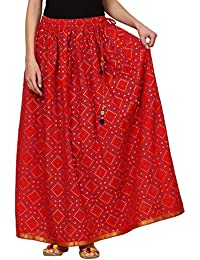 Saadgi Rajasthani Hand Block Printed Handcrafted Pure Rayon Lehnga Skirt For Women/Girls - B06XGHT2NR