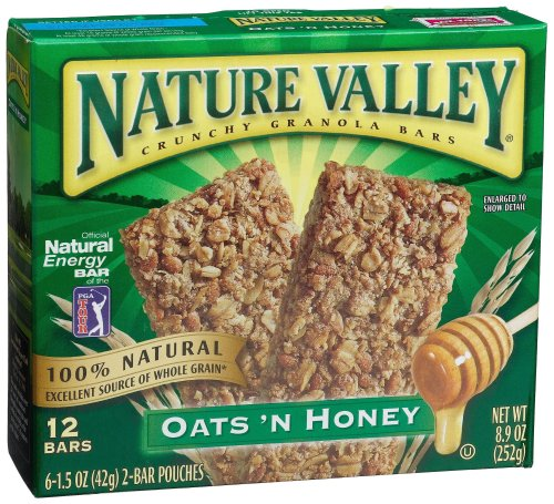 Nature Valley Crunchy Granola Bars, Oats 'n Honey, 12-Count Bars (Pack of 12)
