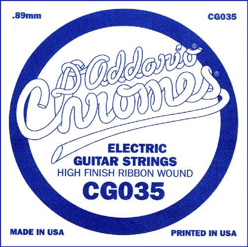 D'Addario Cg035 Flat Wound Electric Guitar Single String, .035