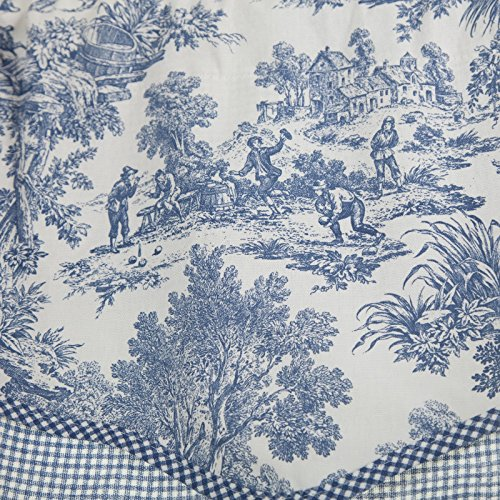 Victoria Park Toile 68-Inch-by-24 Inch Tailored Tier Curtains ...