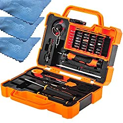 EEEKit Precision 45 in 1 Screwdriver Set Repair Kit Tools for iPhone, iPad, and other Smartphone Tablet Computer Electronic Devices(45in1)