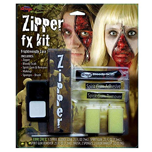 [Zipper FX Kit Scab, Spirit Gum & Remover Zombie Halloween Special Effects Makeup] (Zombie Babies Spirit Halloween)