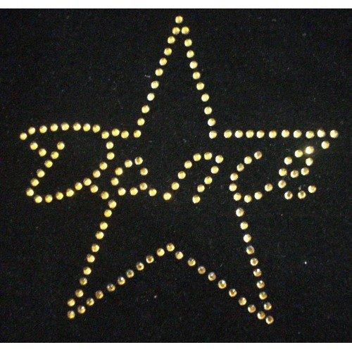 Danza Star 5inch toppa trasferimento applique Red