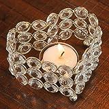 Unique Arts & Interiors Beautiful Heart Shaped Crystal Tea Light