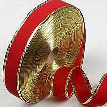 Alcoa Prime 2 Meters 5cm Width Xmas Ribbon Red With Gold Edges Christmas Decorations For Home Adornos Navidad...