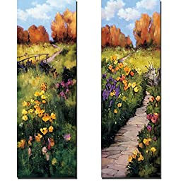 The Bridge & Path Beneath Your Feet by Andrew Birlington 2-pc Custom Gallery-Wrapped Canvas Giclee Art Set (Ready to Hang)