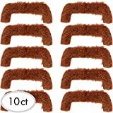 """Amscan Groovy 60s Party Brown Moustache Accessory (10 Pack), Brown, 10.5 x 8.7"""""""