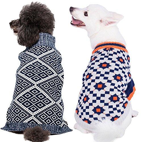 blueberry-pet-12-30cm-ruckenlange-hundebekleidung-hundepullover-mit-blau-weissem-rautenmuster