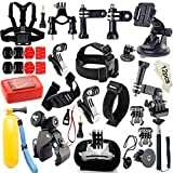 Iextreme 45-in-1 GoPro Accessories Bundle Tool Kit for GoPro HERO Session / HERO4 Session / HERO4 / HERO+ LCD / HERO+ / HERO3+ / HERO3 / HD HERO2 / HD HERO, SJCAM SJ4000 / SJ5000 / SJ6000 / SJ7000, Xiaomi Yi