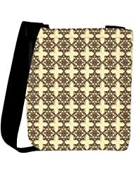 Snoogg Abstract Brown Pattern Design Designer Womens Carry Around Cross Body Tote Handbag Sling Bags