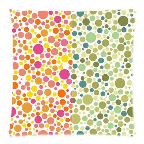"""Polka Dot Double Pattern Custom Zippered Pillow Cushion Case Throw Pillow Covers 18""""X18""""(Two Sides) Fabric Cotton And Polyester front-1018698"""