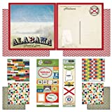 Scrapbook Customs Themed Paper and Stickers Scrapbook Kit, Alabama Vintage